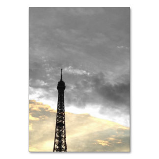 chart of table tower Eiffel gold and money Table Cards