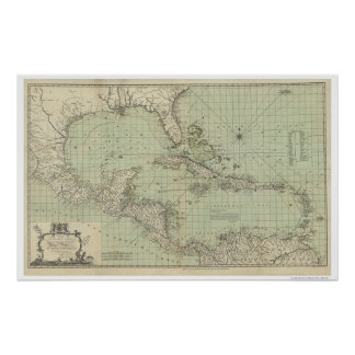 Chart of West Indies Map - 1774