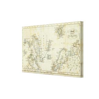 Chart, Polar Seas Stretched Canvas Prints