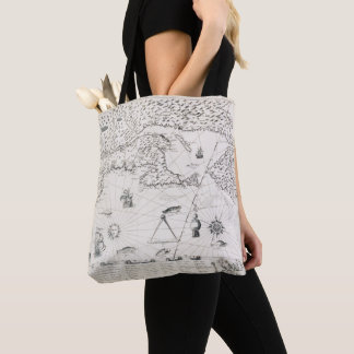 Chart Quebec America News-France by French Tote Bag