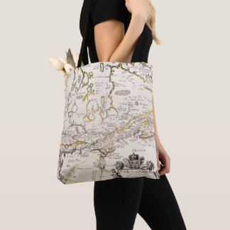 Chart Quebec Canada News-France by French Tote Bag