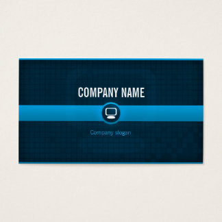 Chart visits - Professional blue data processing Business Card
