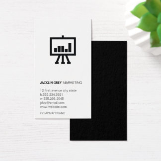 Chart with Logo Business Card