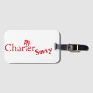 CharterSavvy Logo Luggage Tag Bareboating Charters
