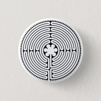 chartres 1 inch round button