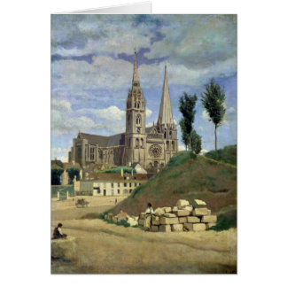 Chartres Cathedral, 1830 Card
