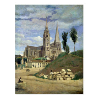 Chartres Cathedral, 1830 Postcard