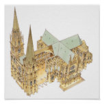 Chartres Cathedral. France Poster