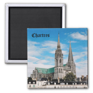 Chartres Cathedral Square Magnet