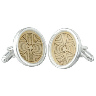Chartres Labyrinth antique style 1 + your ideas Cuff Links