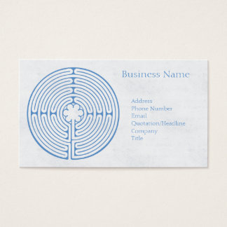 Chartres Labyrinth Blue Business Card