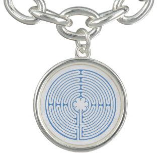 Chartres Labyrinth Blue Charm Bracelets