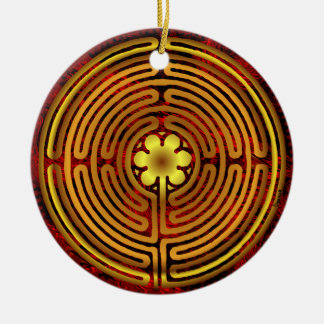 Chartres Labyrinth Fire Ornament
