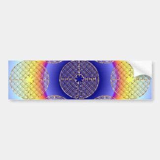 Chartres Labyrinth Light Paths Bumper Sticker