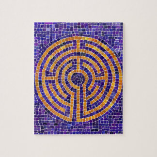 Chartres Labyrinth Mosaic 8 x 10 Puzzle w/ Tin