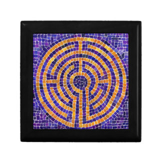 Chartres Labyrinth Mosaic Sm Gift Box w/ Tile Lid