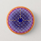 Chartres Labyrinth Pearl Light Paths Button