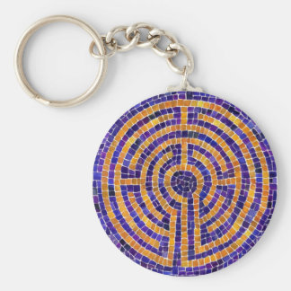 Chartres Mosaic Button Keychain