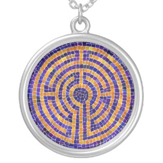 Chartres Mosaic Sterling Silver Round Necklace