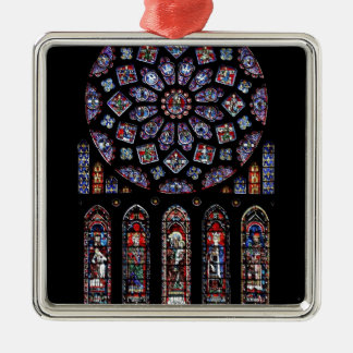 CHARTRES VI STAINED GLASS METAL ORNAMENT