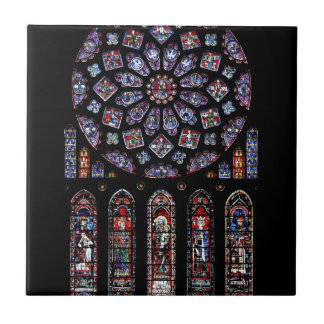 CHARTRES VI STAINED GLASS TILE