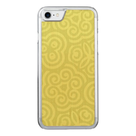 Chartreuse abstract pattern carved iPhone 8/7 case