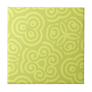 Chartreuse abstract pattern. tile