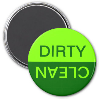 Chartreuse and Dark Green Dirty Clean Magnet