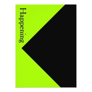 Chartreuse Black Modern Bold Invites Invitations