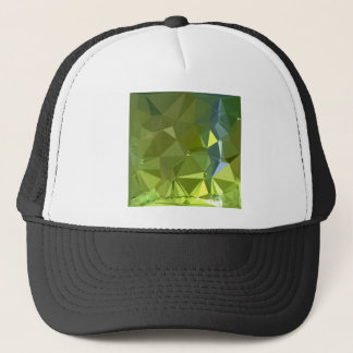 Chartreuse Green Abstract Low Polygon Background Trucker Hat