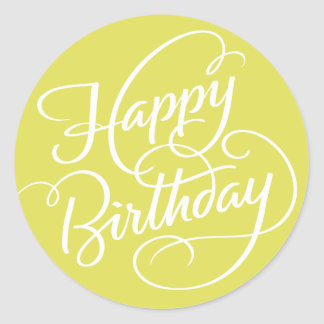 CHARTREUSE HAPPY BIRTHDAY | STICKER