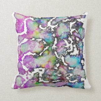 chartreuse inkblot throw pillow