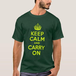Chartreuse Keep Calm and Carry On T-Shirt