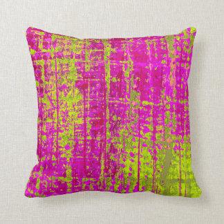 Chartreuse Kiss Throw Pillow