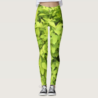 Chartreuse Leaf Leggings