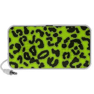 Chartreuse Leopard Animal Print Travelling Speaker
