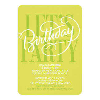 CHARTREUSE LET'S BIRTHDAY PARTY | INVITATION