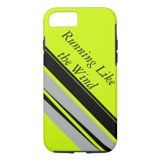 Chartreuse Lime Black Sporty Running Runners iPhone 8/7 Case