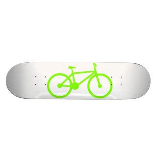 Chartreuse Neon Green Bicycle Custom Skate Board