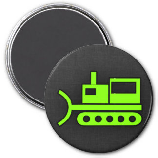 Chartreuse, Neon Green Bulldozer Magnet