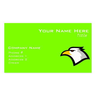 Chartreuse Neon Green Eagle Business Card Template