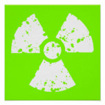 Chartreuse, Neon Green Radioactive Symbol Poster