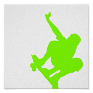 Chartreuse, Neon Green Skater Poster