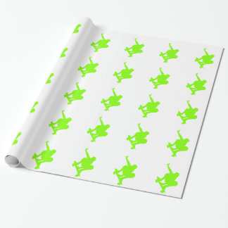 Chartreuse, Neon Green Skater Wrapping Paper