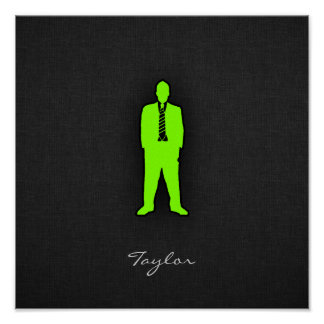 Chartreuse Neon Green Swag Print