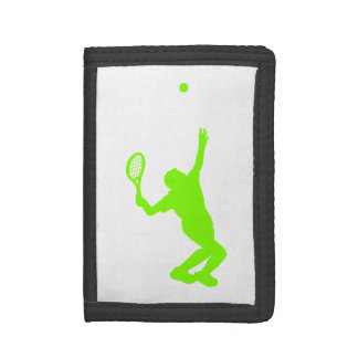 Chartreuse, Neon Green Tennis Tri-fold Wallet