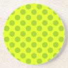 Chartreuse Polka Dots Coaster