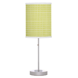 Chartreuse-Royalty-Plaid's-Traditional-Lamp-Set's Table Lamp