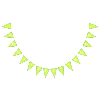 Chartreuse Solid Color Customize It Bunting Flags