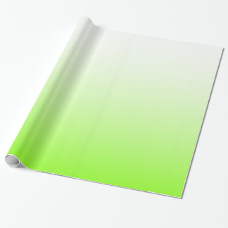 Chartreuse White Ombre Wrapping Paper